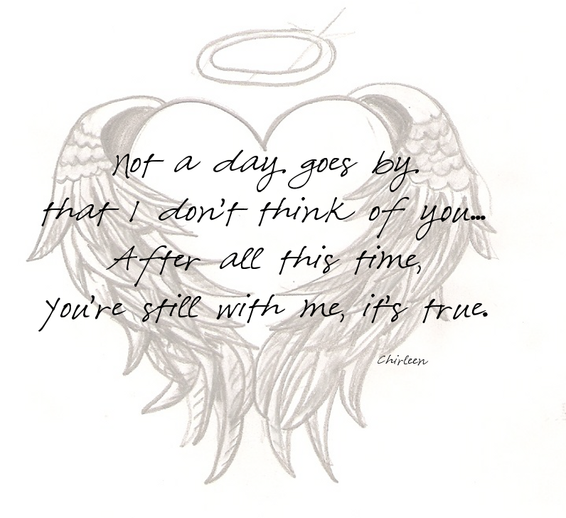Memorial Tattoo Heart With Wings And Quote: From Blowing Kisses To Heaven