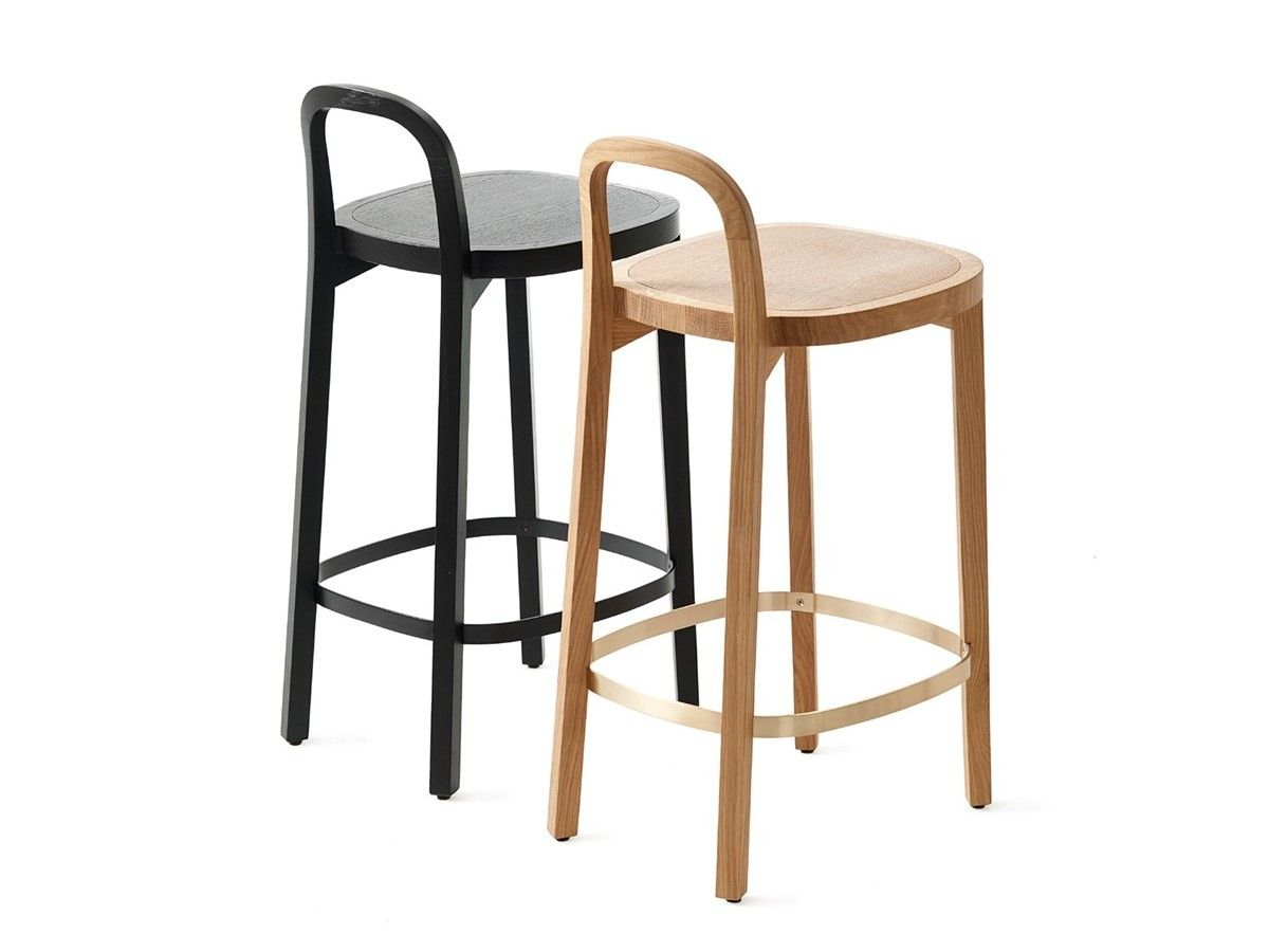 Wooden Barstool With Footrest Siro Barstool By Woodnotes Bar Stools Cafe Furniture Stool
