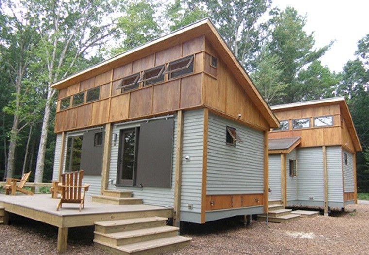 modulos para casas de madera en el bosque