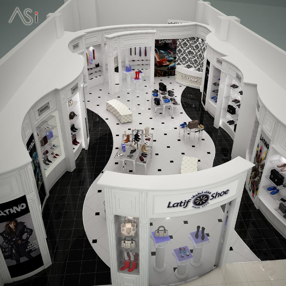A designer shoe showroom Latif #Shoe #Store sports a
