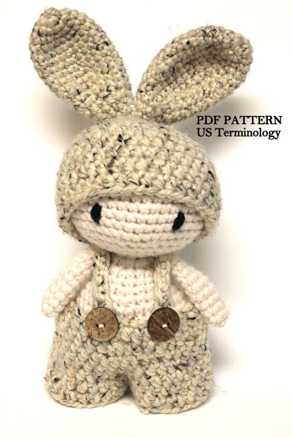 PATTERN: Crochet Chunky Bunny, Amigurumi Rabbit, Crochet Toy ...