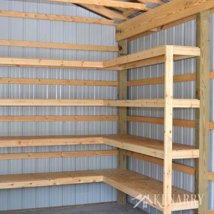 Diy Corner Shelves For Garage Or Pole Barn Storage: Storage In Garage- CLICK THE PIC For Many Garage Storage