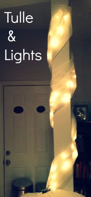 Tulle Amp Lights Would Be Beautiful For Poles Or Columns