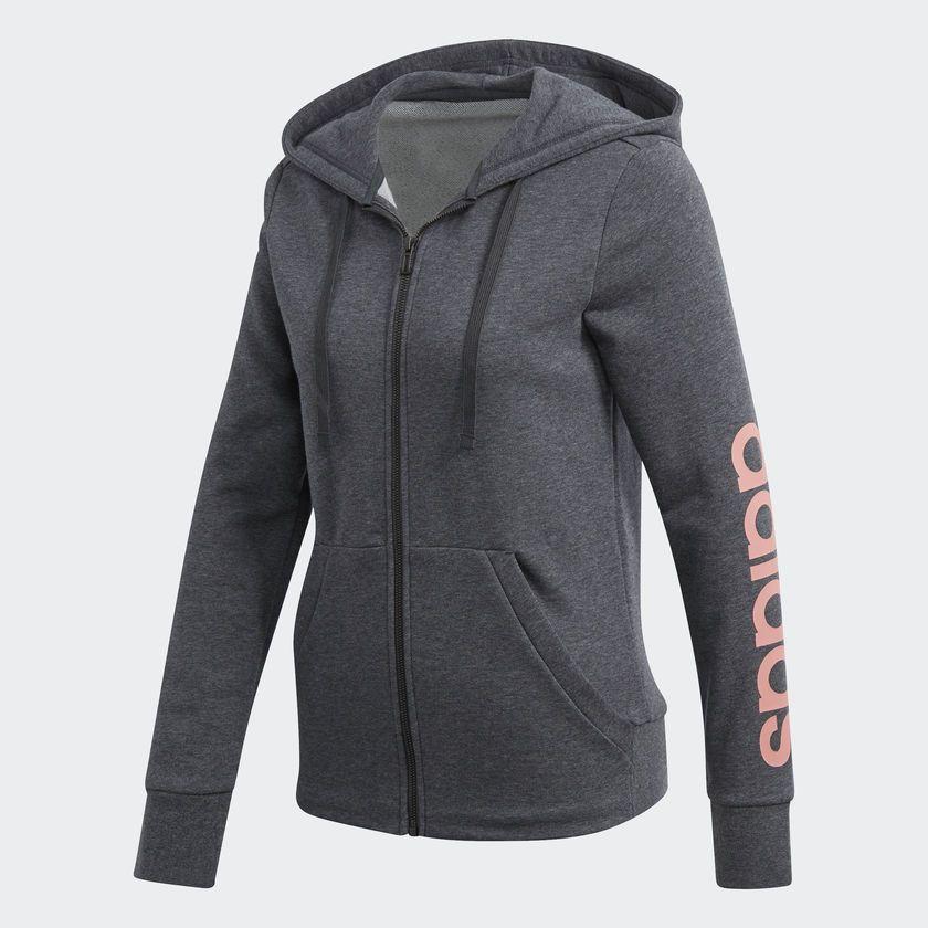 adidas damen essentials linear pullover hoodie