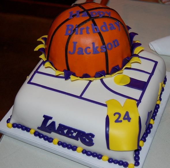 Los Angeles Lakers Cake Decorations