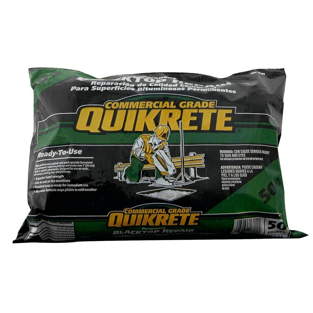 Quikrete 50 Lb Commercial Grade Blacktop Repair 170152 The Home Depot Concrete Repair Products Repair Driveway Repair