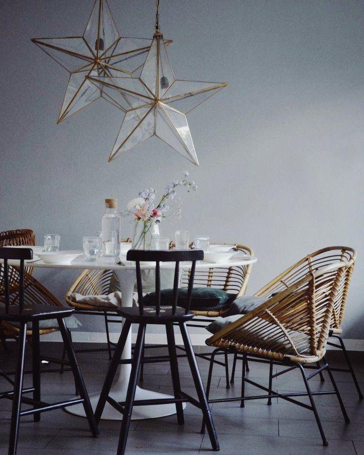 Mittagessen | SoLebIch.de Foto: _wohnblock_ #solebich #esszimmer #Ideen  #wandgestaltung #skandinavisch #grün #tisch #einrichtung #stuhl #dekoratiu2026