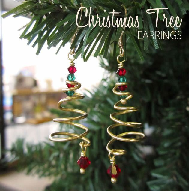 Christmas Tree EarringFree Diy Jewelry Projects | Learn how to make jewelry - beads.us