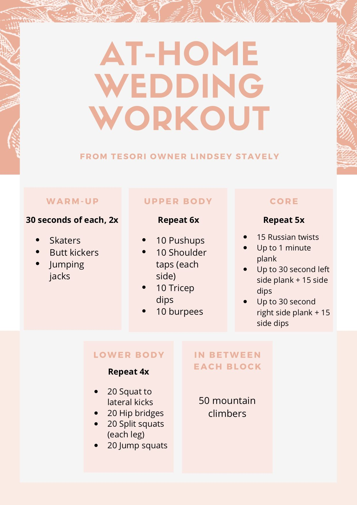 At Home Wedding Workout In 2020 Wedding Workout Workout Home Wedding