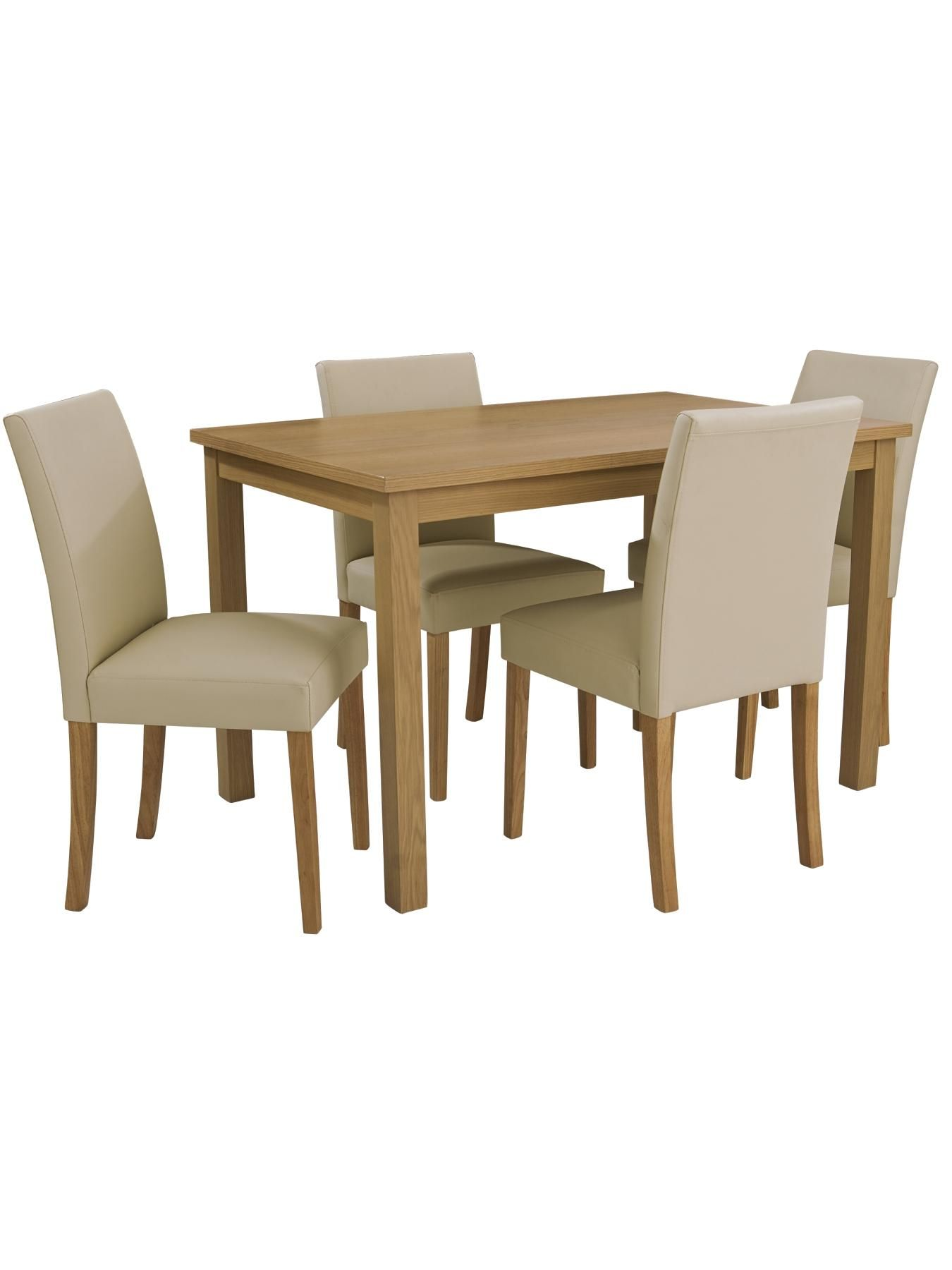 Dining Table And Chair Set Uk Mesh Lounge Womens Mens Kids Fashion Furniture Electricals More Primo 120 Cm 4 Lucca Chairs Very Co