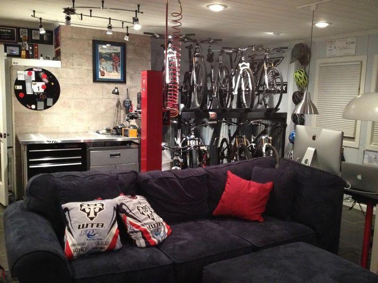 Mountain Bike Themed Man Cave Bike Room Bike Storage Bicycle Room