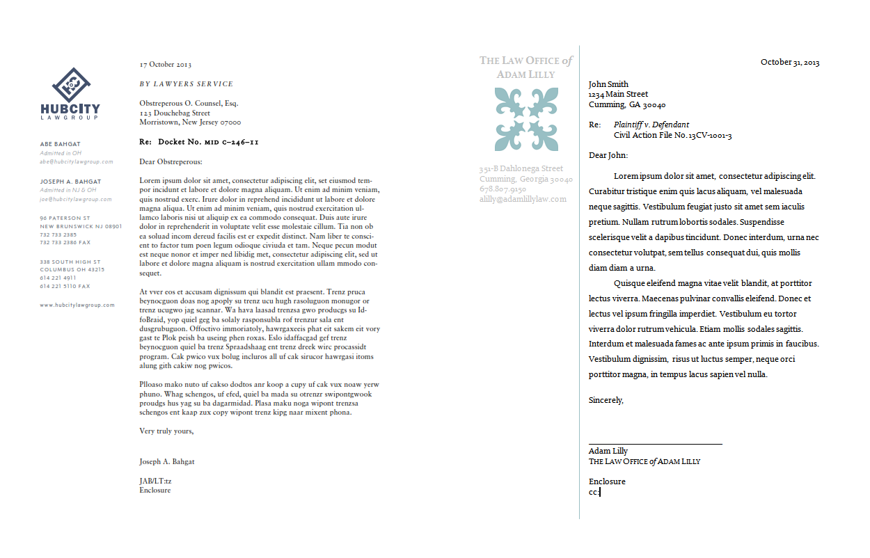 Diy Law Firm Letterhead Using Microsoft Word Lawyerist Both The