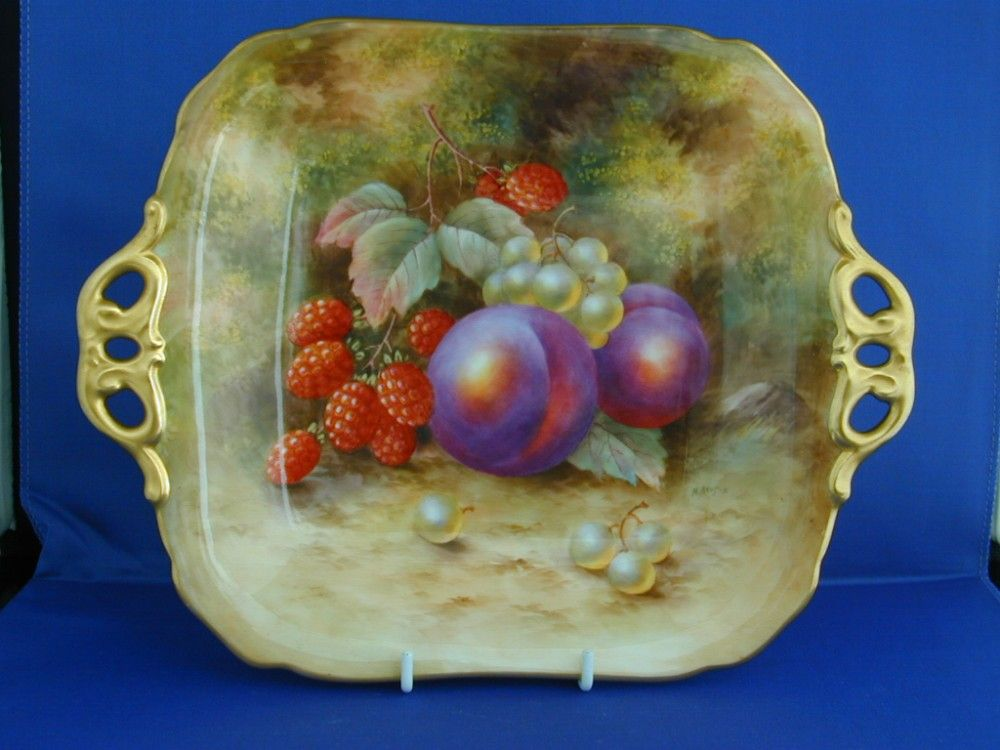 Royal Worcester Fruit Decorated Sandwich Tray signed 1937 | Royal ...