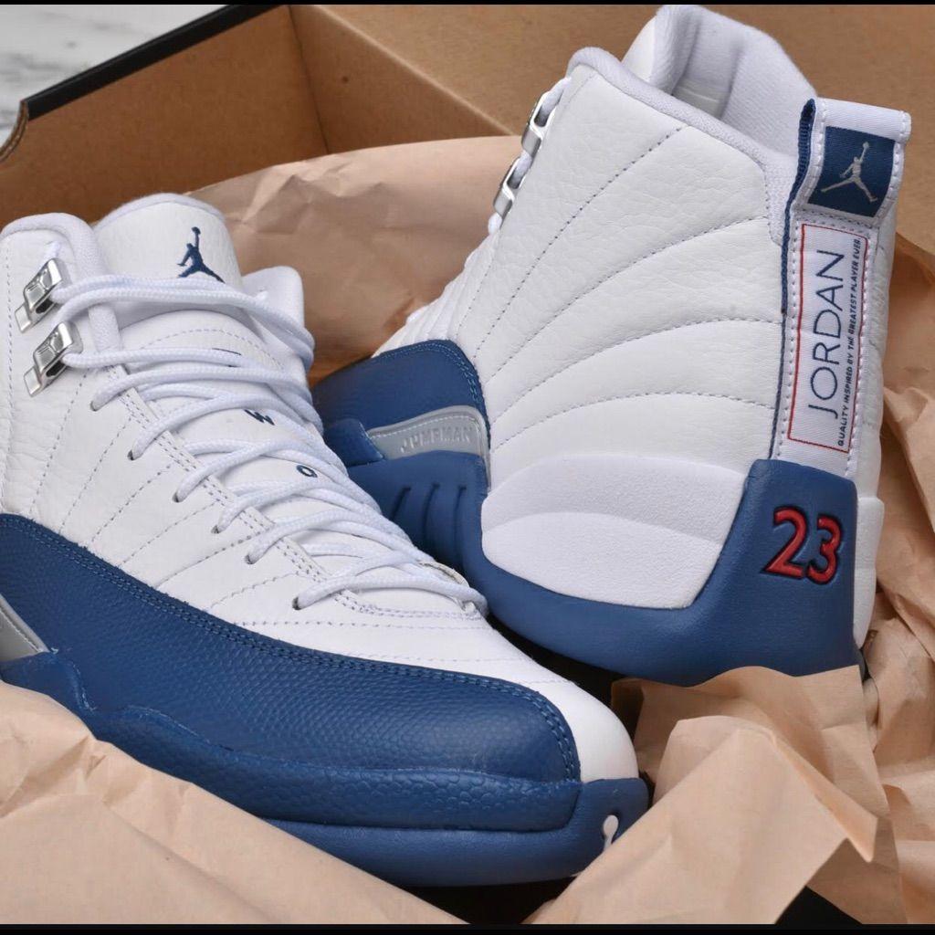 Jordan Shoes French Blue 12s Color Blue White Size 5