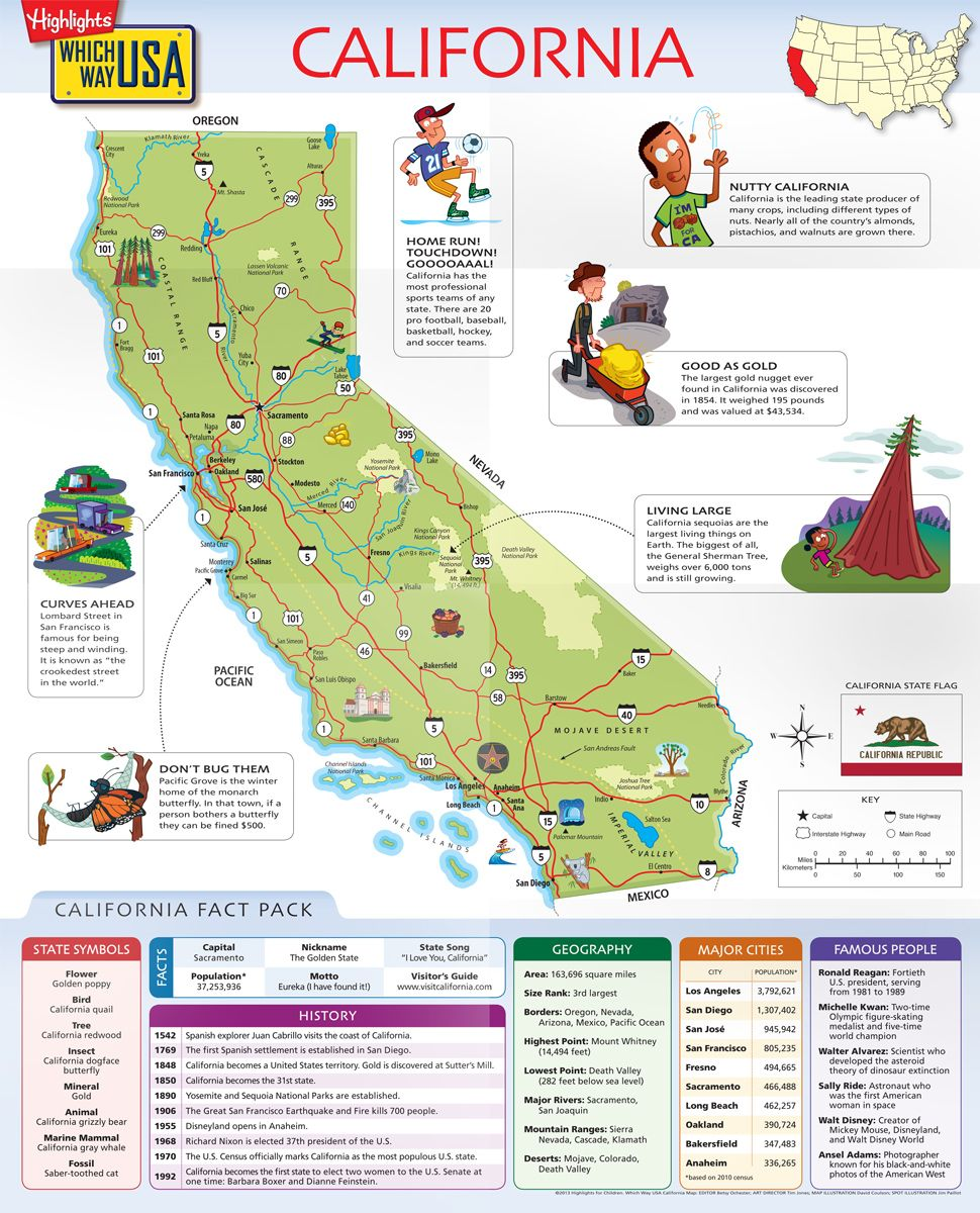 Geography Books For Kids With USA Puzzles Which Way USA Map - San francisco map puzzle