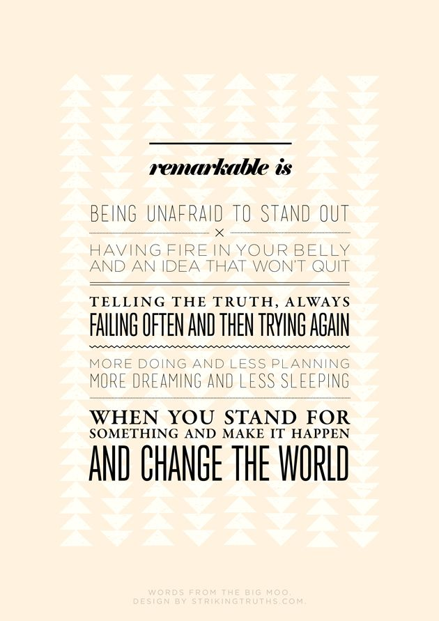 Remarkable Is | Striking Truths
