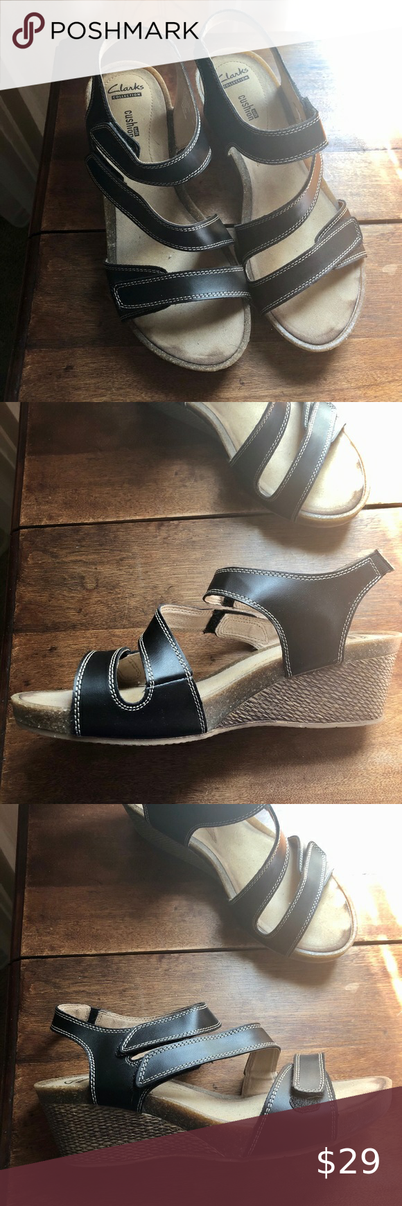 clarks sandals with arch support