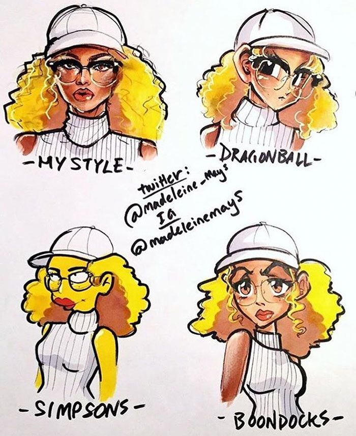 Amazing Cartoon: Different-cartoon-style-challenge-drawing-13-579ef7bf519d4