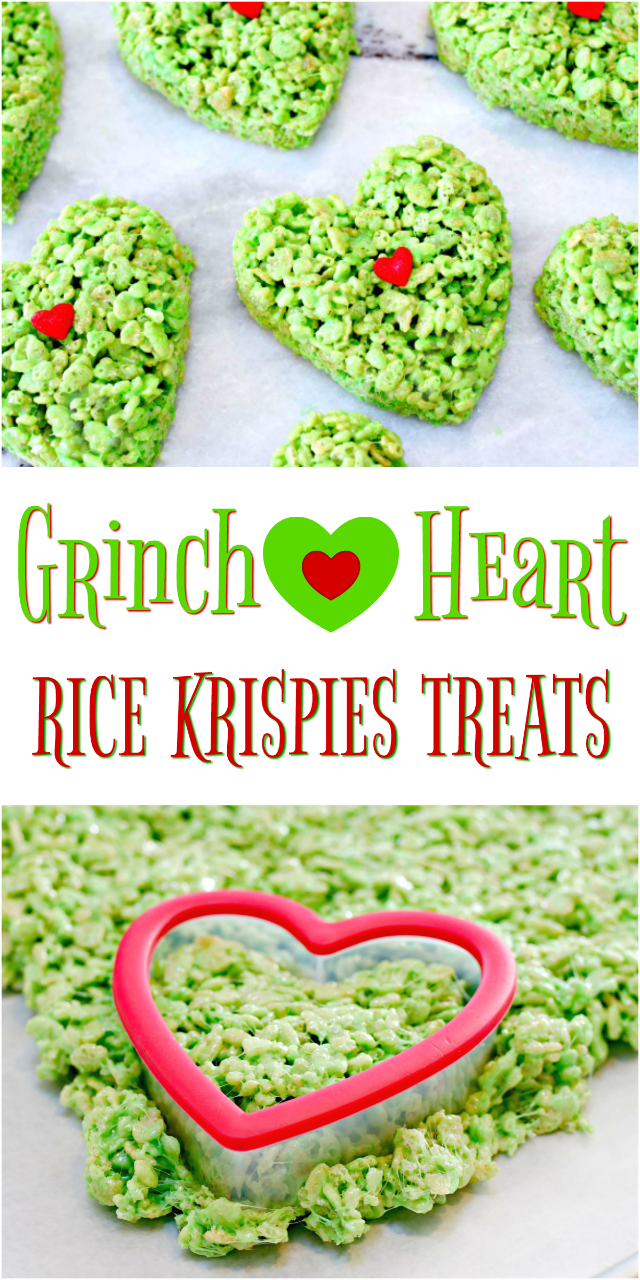 Grinch Heart Rice Krispies Treats Recipe