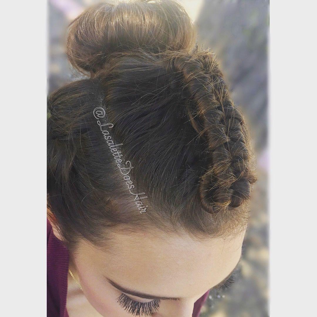 Updo braided hairstyle lasalettedoeshair pinterest braided