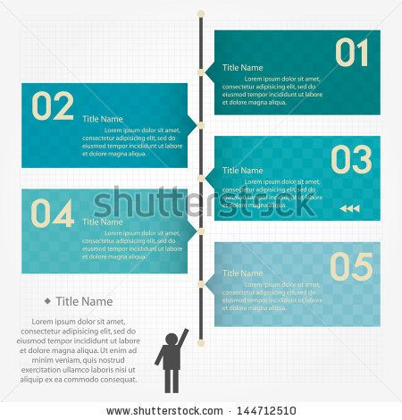 Design clean number banners template graphic or website layout - timeline website template