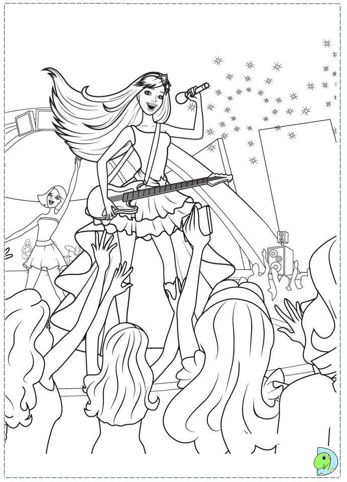 Barbie Princess Popstar Coloring Page Barbie Coloring Princess Coloring Pages Barbie Coloring Pages