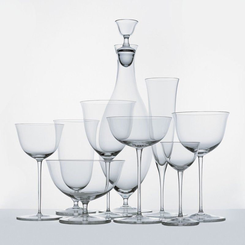 Patrician Service Josef Hoffmann Artspace Com Glass Glass Stemware Liquor Glass