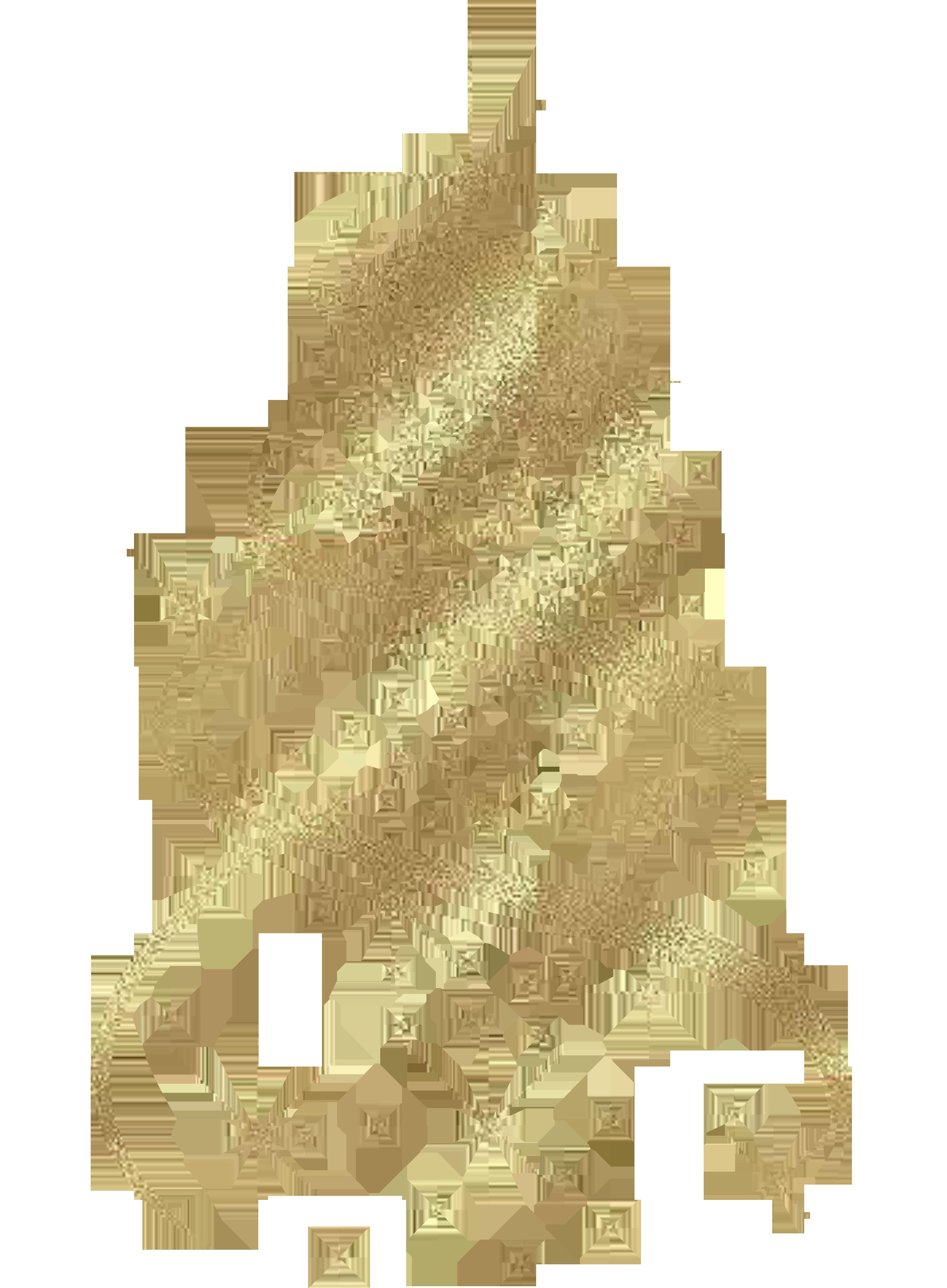 Transparent Golden Christmas Tree Decoration PNG Clipart