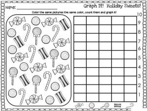 holiday graph worksheet | PRINTABLES | Christmas math ...