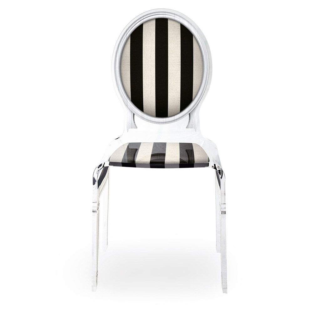 Skeleton Chair In Noir Stripe Chair Contemporary Furniture Design Cool Chairs