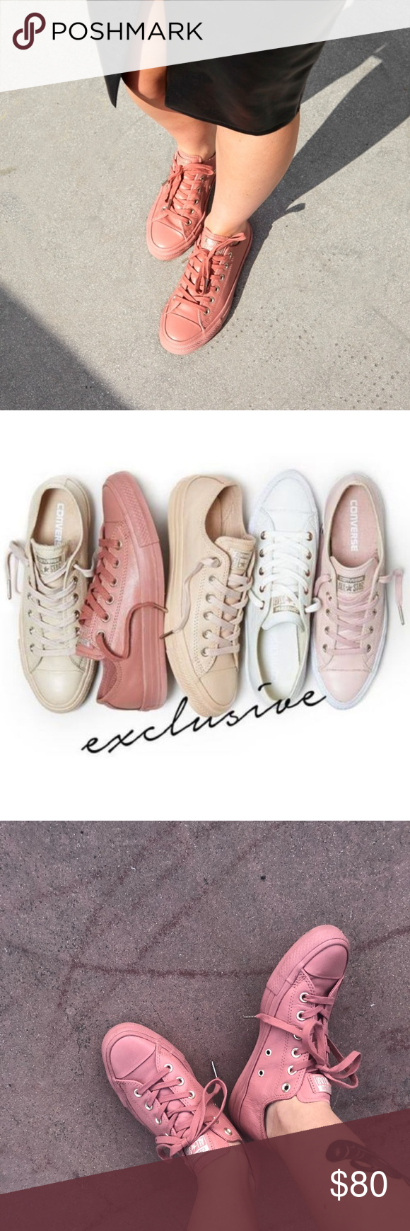 ac2aeb28d87b2d Converse All Star Ox Leather Holiday Nude Collect New Desert Sun Converse  All Star Ox Leather Holiday Nude Collection Size 9 (limited edition.