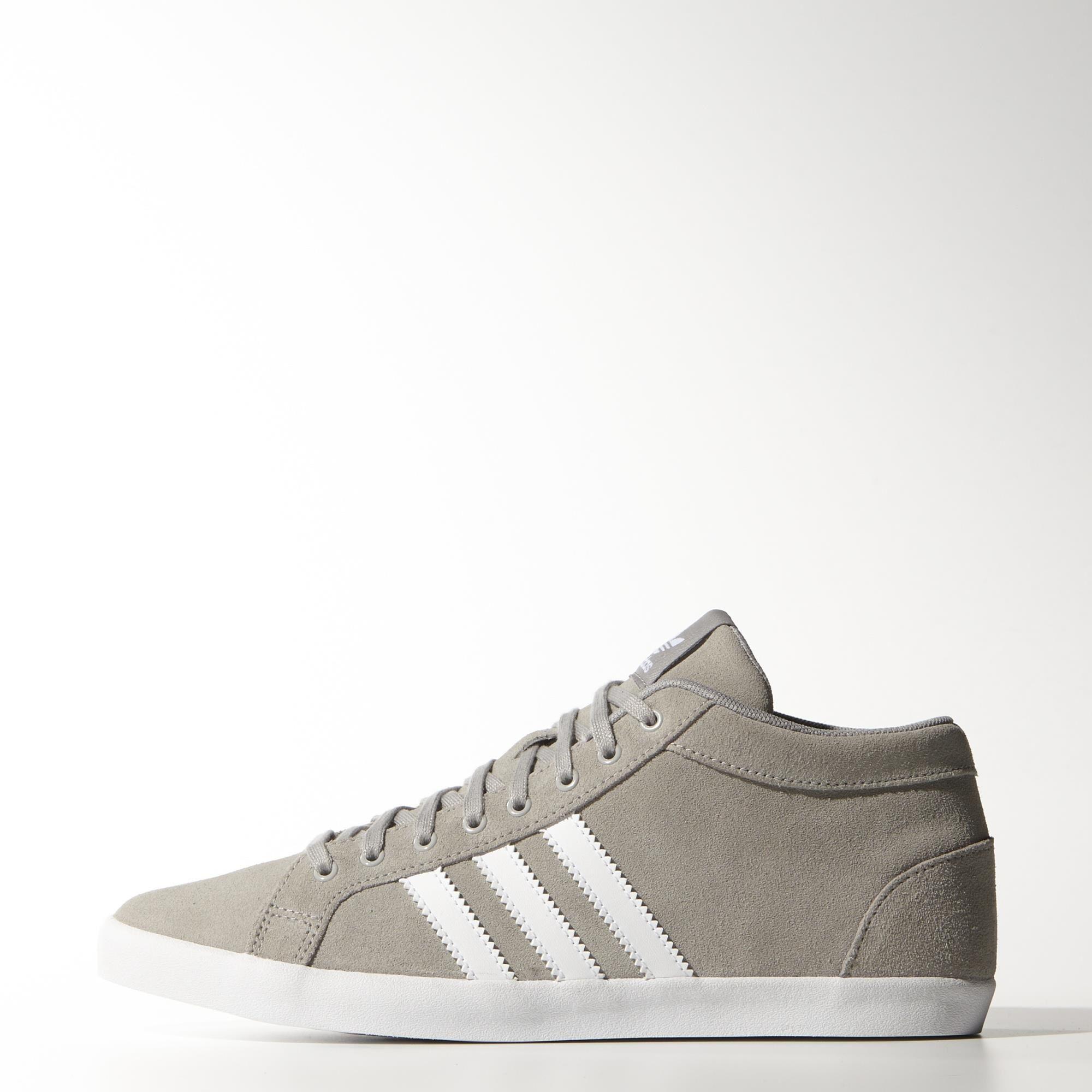 adidas adria ps 3 strisce metà scarpe in grigio - couture