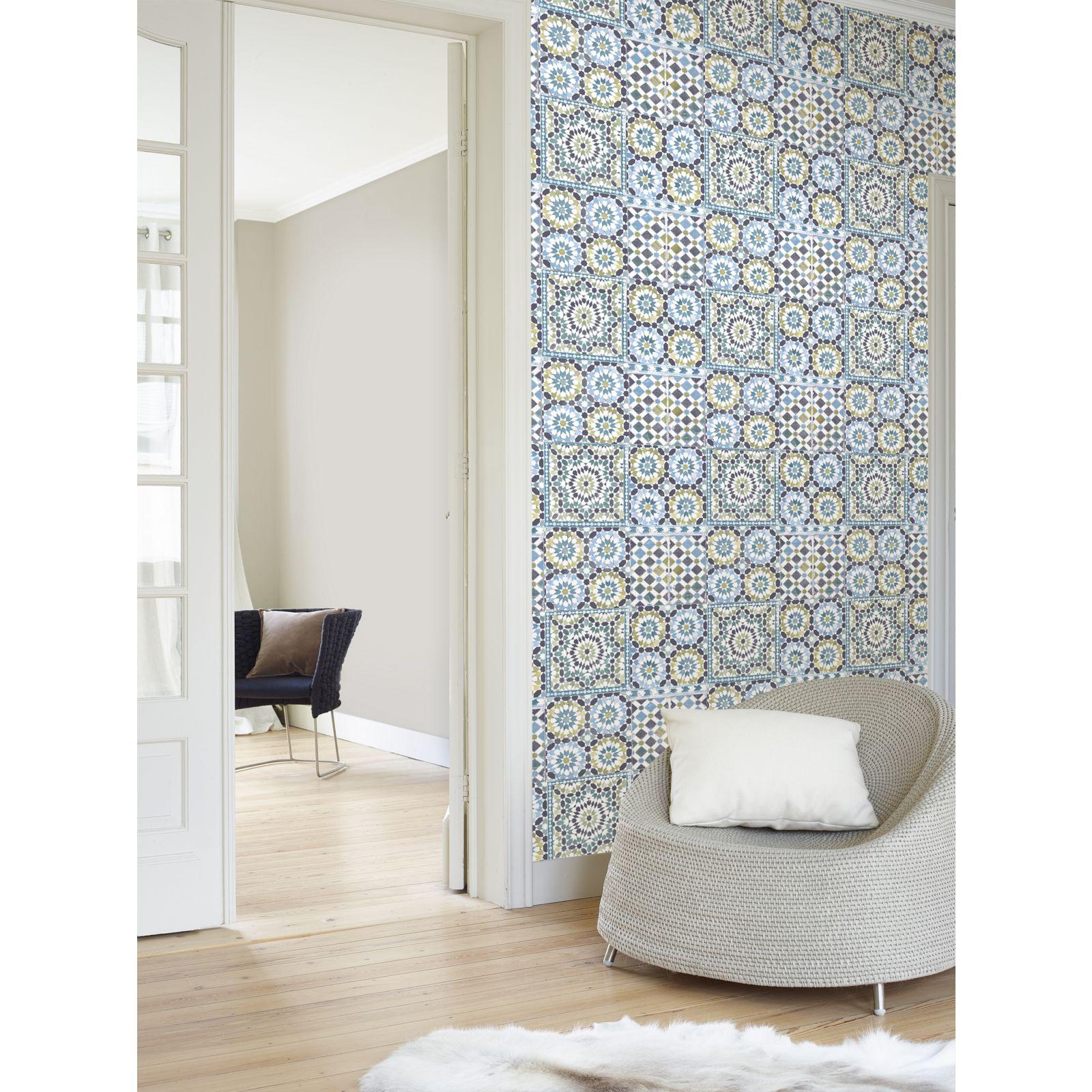 Grandeco Moroccan Tile Wallpaper Tile wallpaper, Home