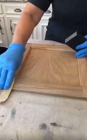 Cheap Easy Kitchen Cabinets Makeover Idea DIY   Honey oak ...