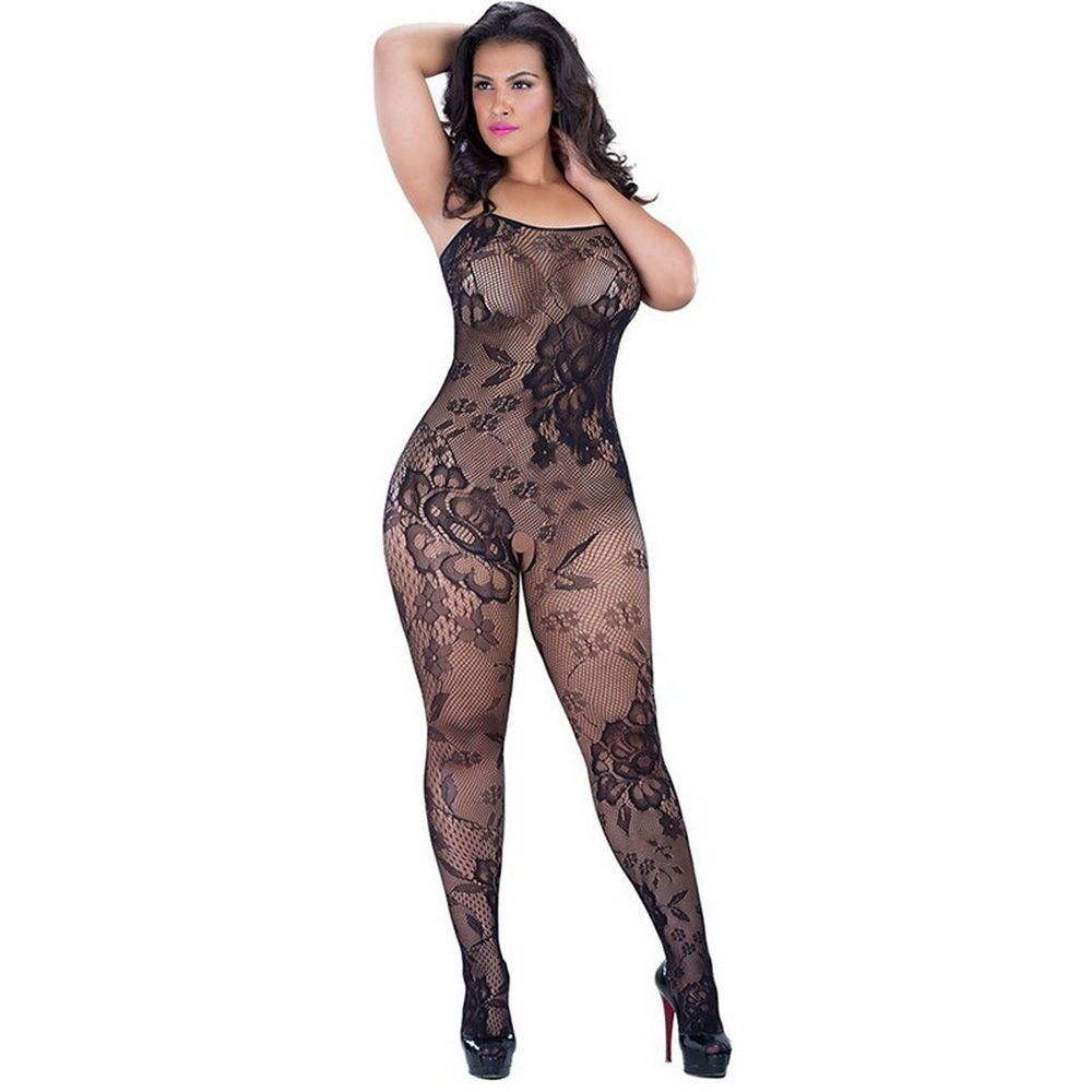 dba5e6e7c Plus size women sexy lingerie crotchless fishnet mesh transparent body  stocking  Unbranded  BodyStockings