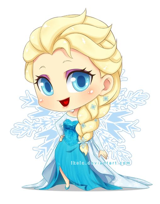 Chibi Elsa By Iksia On Deviantart Disney Princess Drawings Chibi Disney Kawaii Disney