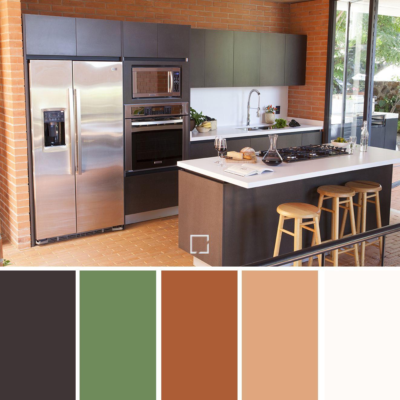 Paleta De Colores Para Una Cocina Llena De Personalidad Y Vida Querras Estar En Este Espacio Todo Decoracion De Cocina Cubiertas De Cocina Cocinas Coloridas