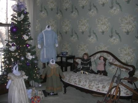 Upper hall in Phelps House, Christmas, 2012