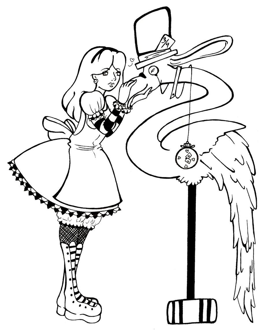 disney-alice-in-wonderland-coloring-pages-965613.jpg (900×1142 ...