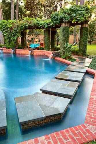 Unique pool design~ | ◇DreAmy H❂MEs & POOLs◇ | Pinterest | Pool ...