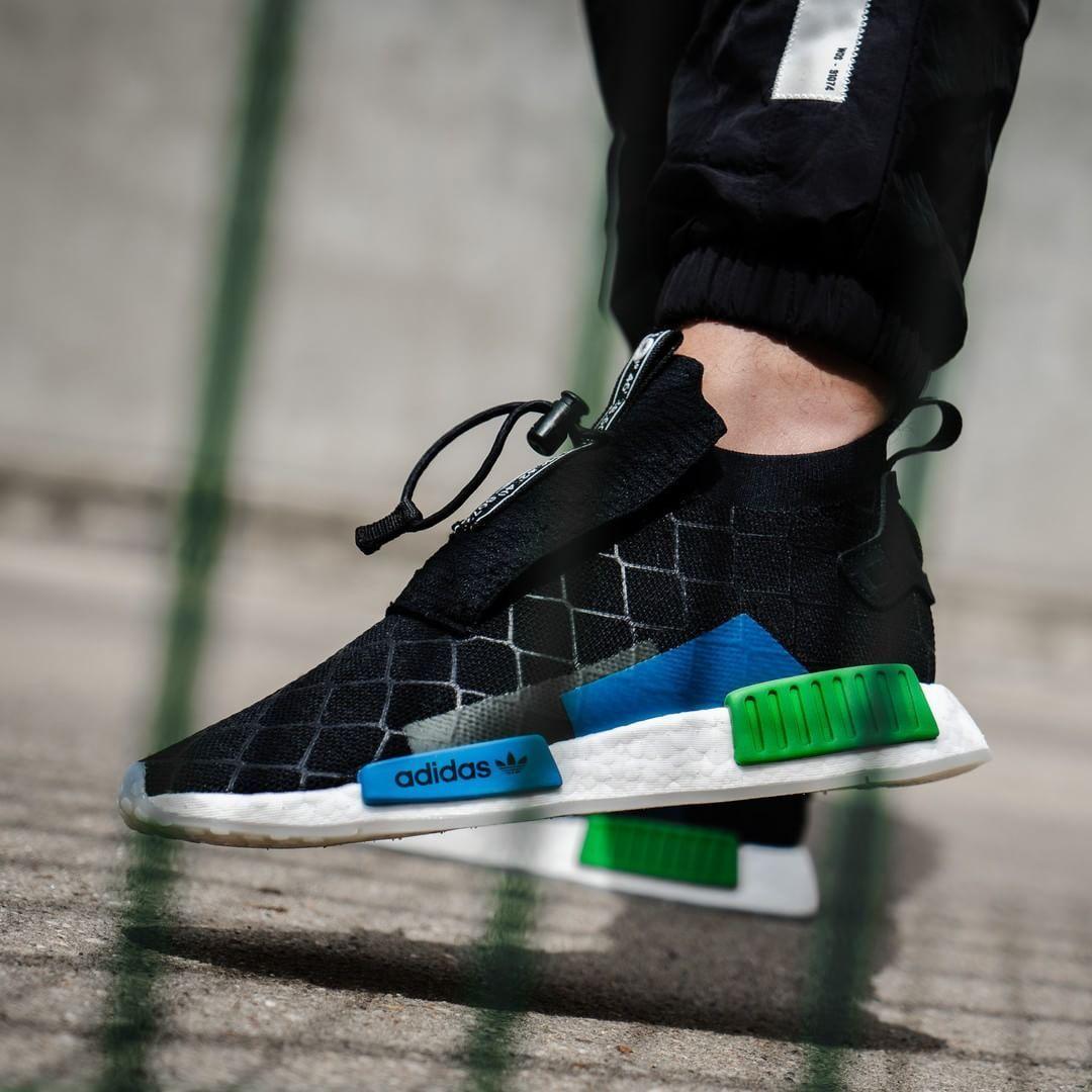 los angeles 763f2 55874 Release Date  July 14, 2018 Adidas x Mita Sneakers NMDTS1 PK Black  Blue   Green Credit  Overkill — adidas mitasneakers nmd sneakerhead ...