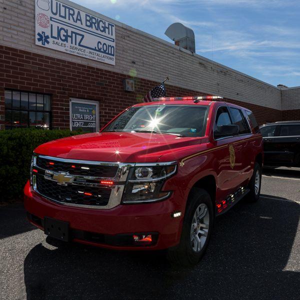 Ultra Bright Lightz Installation All Feniex Lights On A Chevy Tahoe Www Ultrabrightlightz Com Led Eme Emergency Vehicles Rescue Vehicles Lights And Sirens
