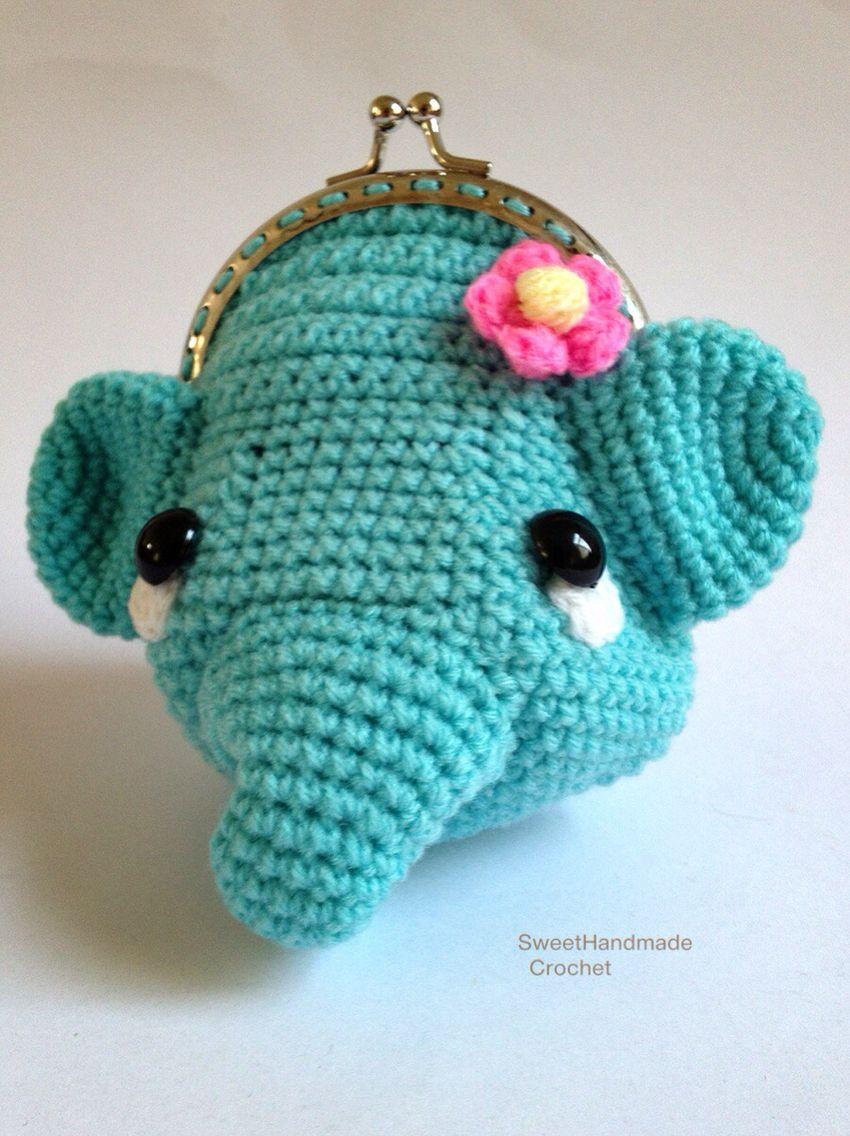 Elephant | Sweet Handmade Crochet | Pinterest | Geldbörse