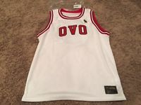 5dcb75883d2e OVO Basketball Jersey White Red Bulls Octobers Very Own