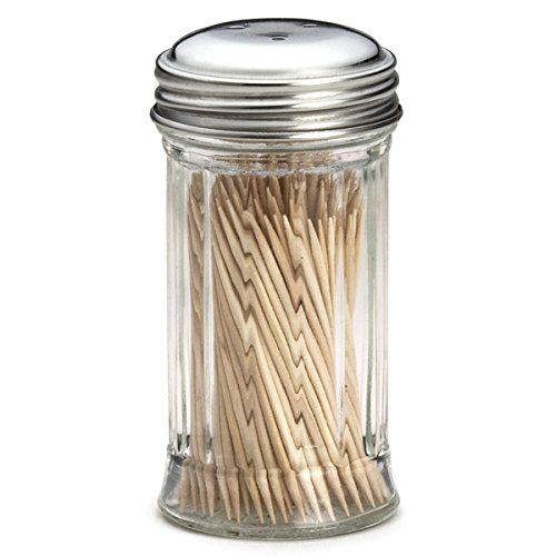 Glass Toothpick Dispenser | Tooth Pick Dispenser, Toothpick Holder, Cocktail Stick Dispenser: Amazon.co.uk: Kitchen & Home
