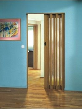 The Eurostar Concertina Folding Door - Light Oak - Glass | Utility ...