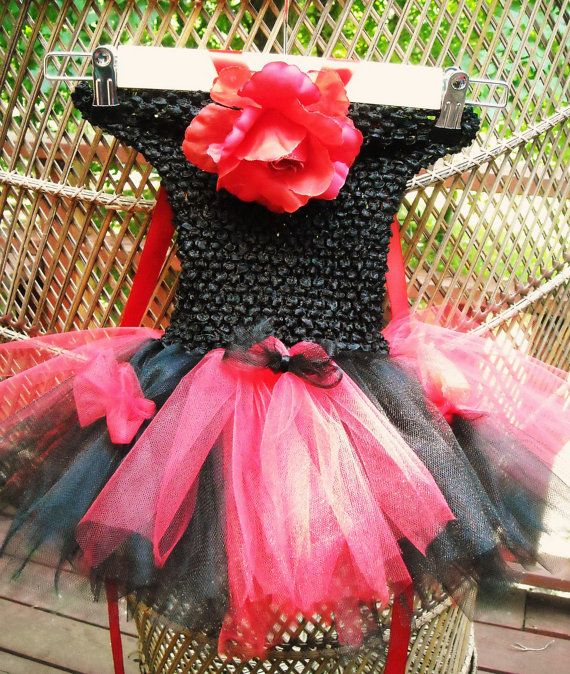 Bold Black And Red Baby Tutu Dress By SassyChicBbyBoutique On Etsy 2500