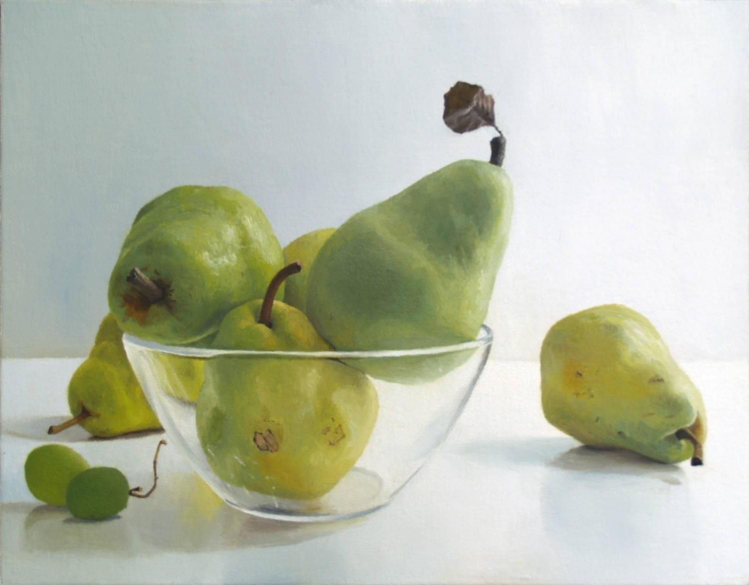 Pears with Glass Bowl IV