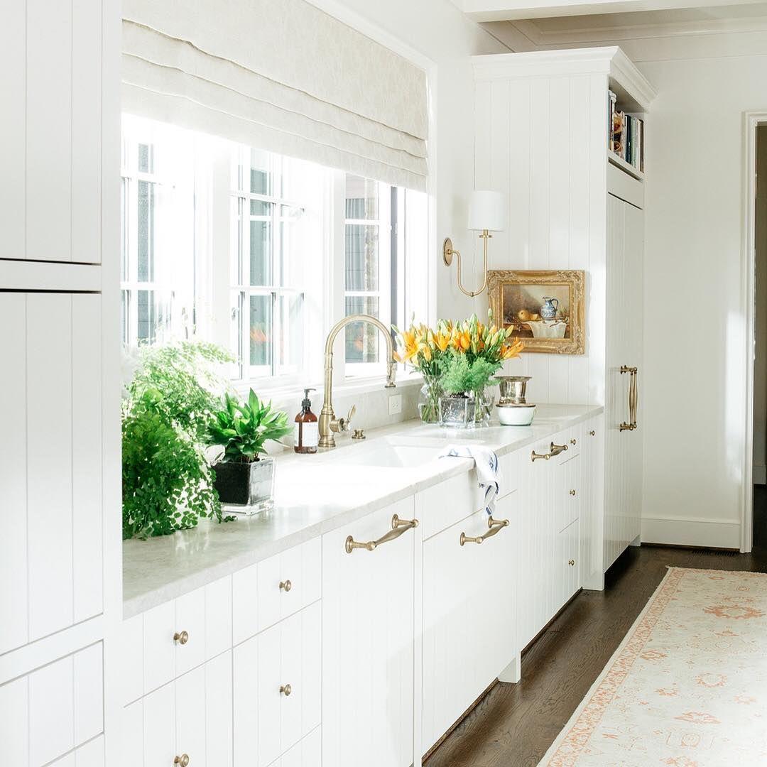 Sun Filled White Kitchen