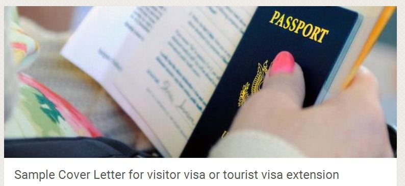 Sample Cover Letter For Visitor Visa Or Tourist Visa Extension